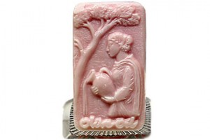 Lady With Olive Oil Urn Soap bath product